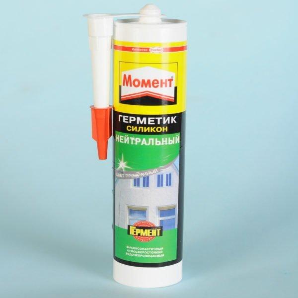 Нейтральный силиконовый герметик.