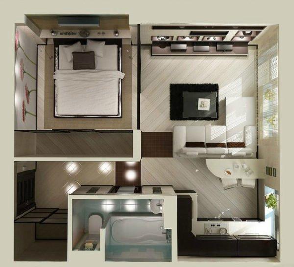 Никогда не забывайте, что даже маленькое помещение можно оформить стильно и со вкусом