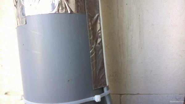 Обогрев кабелем наружной канализации.