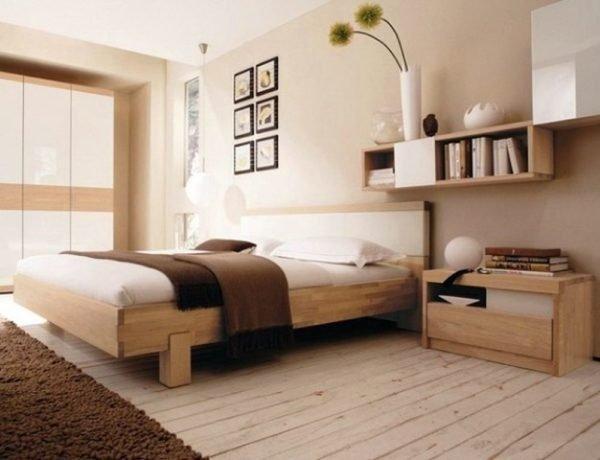 Один из вариантов оформления спальни