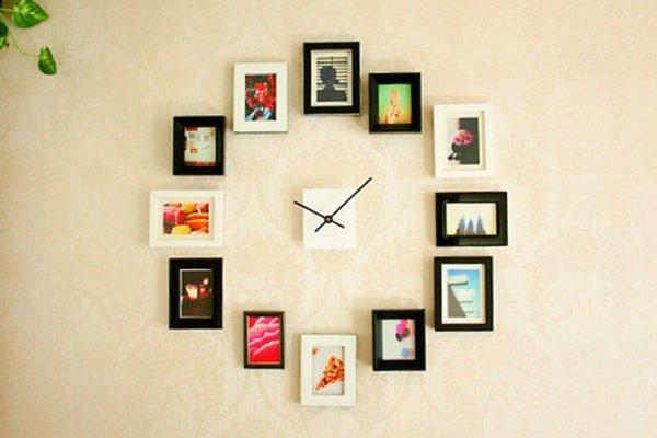 Оригинальные часы и фотографии вместо циферблата