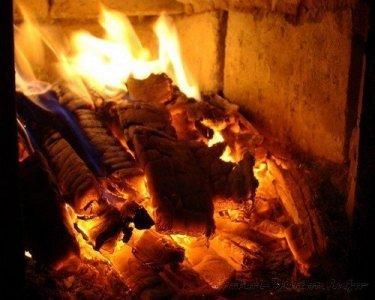 Отопление дровами.
