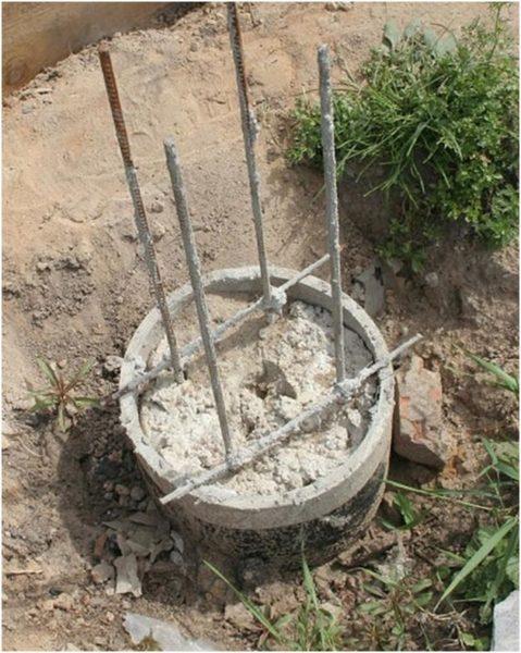 Столбчатый фундамент из железных труб своими руками 6
