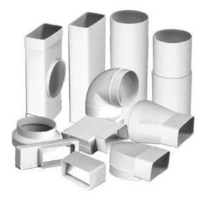 Прямоугольные и круглые трубы можно использовать вместе, соединяя их специальными фасонными деталями.