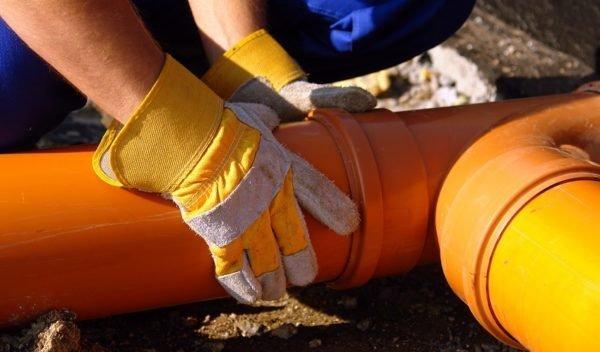 Сборка наружной канализации.