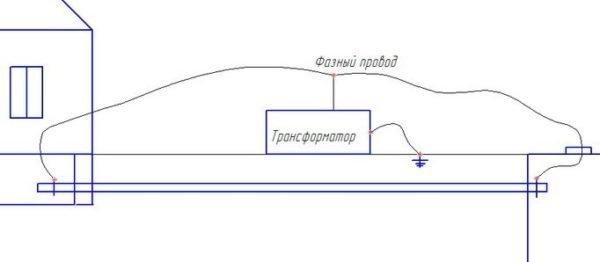 Схема для электрического размораживания без использования специализированного оборудования