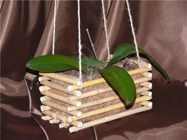 Кашпо для орхидей своими руками мастер класс