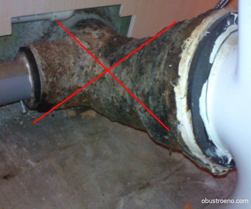 Замена канализационной трубы в ванной трубы своими руками
