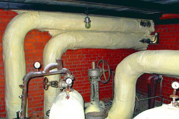 Утепление труб отопления
