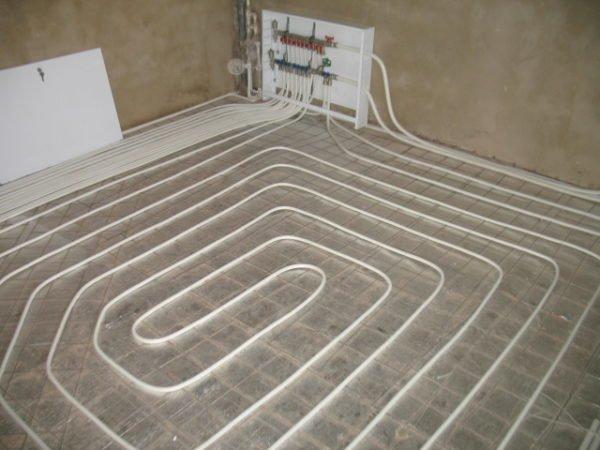 Теплый пол из металлопластика.