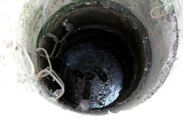 Типичное состояние исправно функционирующего колодца.