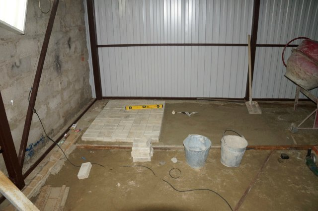 Тротуарная плитка для гаража своими руками 26