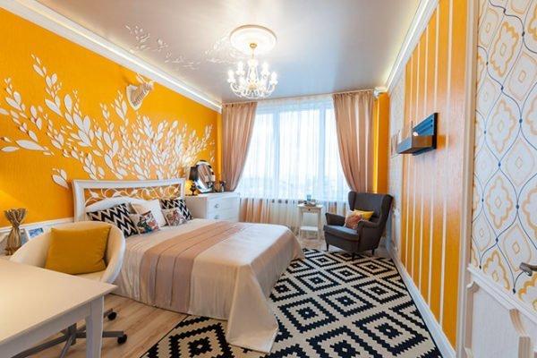 В спальне лучше использовать минимум необходимой мебели