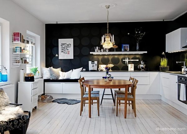 Вариант расстановки мебели для гостеприимных хозяев