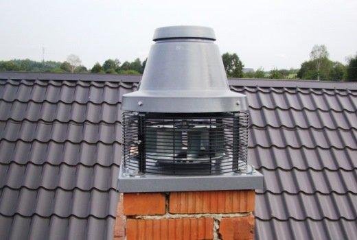 Вытяжной вентилятор для создания принудительной тяги.