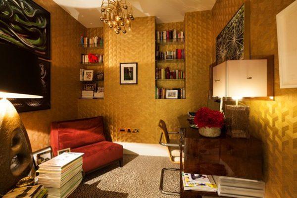 Золото и шоколад в кабинете