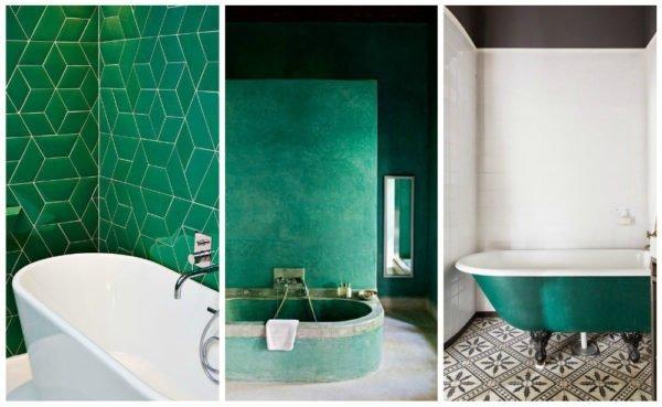 А вот и идеи использования цветных ванн