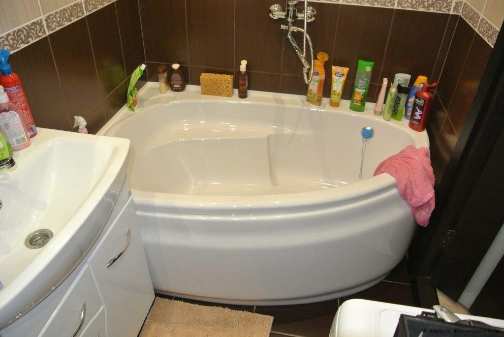 Асимметричная ванна и раковина основные классификации  Акриловая купель cersanit johanna