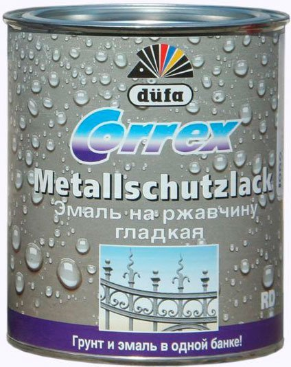 Антикоррозийная водостойкая эмаль Dufa - Correx Metallschutzlack