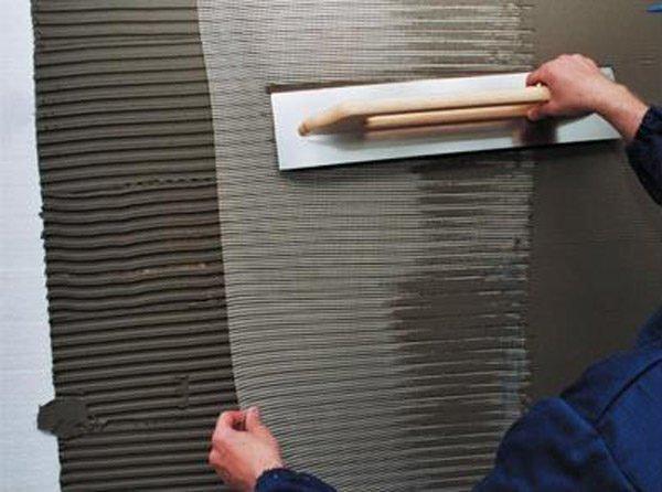 Армирование пенопласта сеткой.