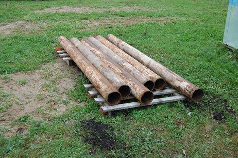 Бывшие в употреблении «черные» трубы – излюбленный материал для банных печных труб в народе
