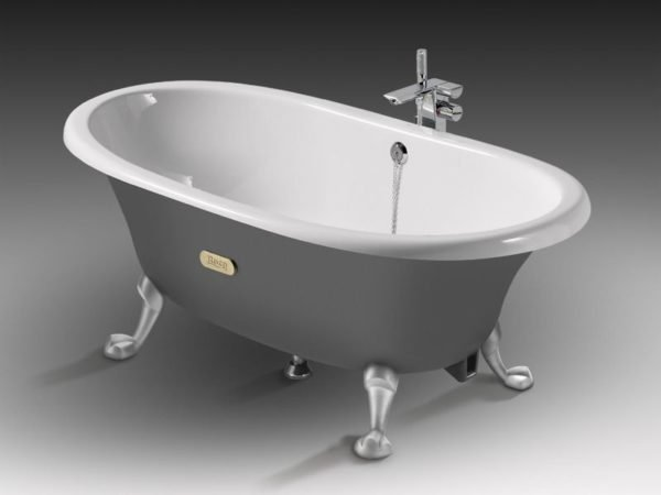 Чугунная ванна (на фото). – отличный выбор, если бы не несколько минусов.