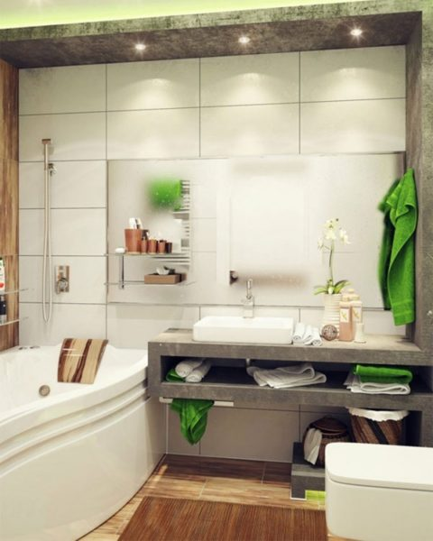Даже маленькая ванная может быть стильной