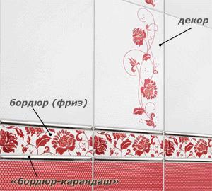 Декоративные вставки стоят дороже рядовой плитки