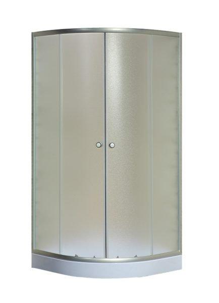 Душевая кабинка с тонированными матовыми дверками