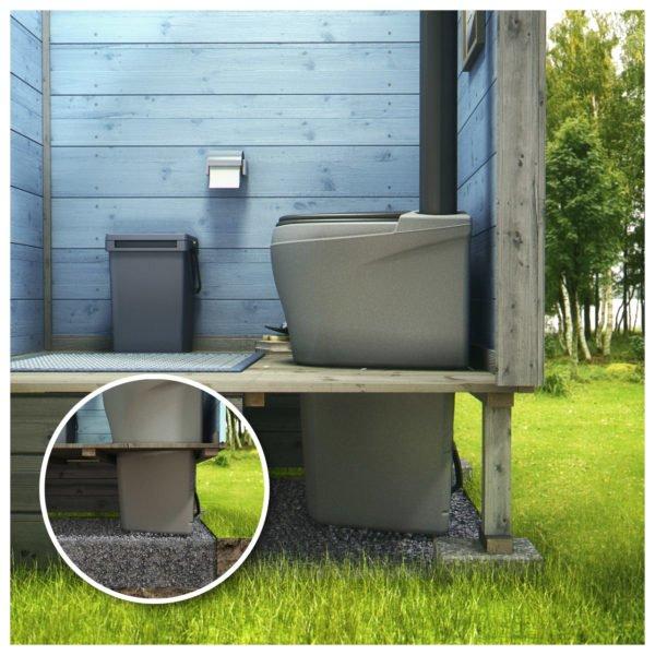 Емкость под унитазом служит для сбора и утилизации отходов