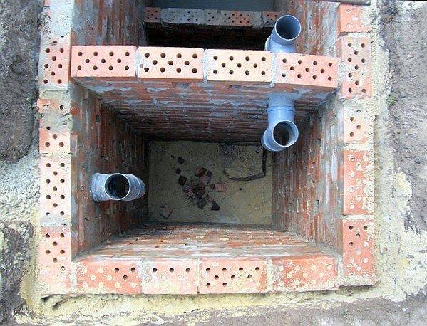 Фото камер септика с переливными трубами