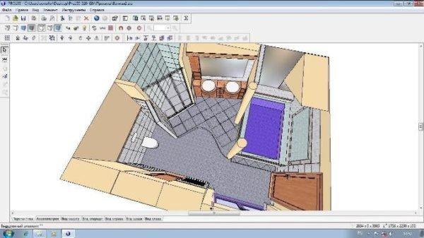 Главное окно программы Про100 – полная визуализация созданных проектов.