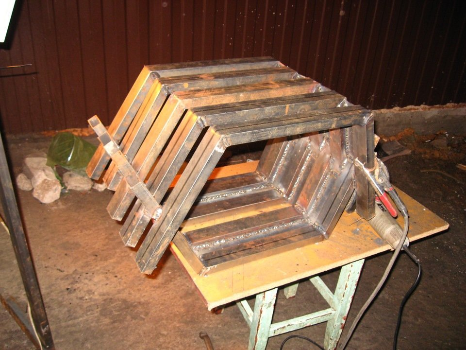 Печь булерьян из квадратной трубы