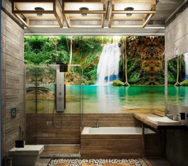 Дизайн ванной комнаты с душем
