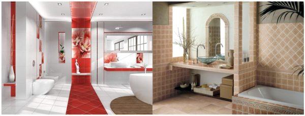 Игра цветом, геометрией и размерами помещения – на это способна плитка и ваш утонченный вкус!