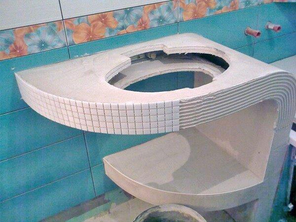 Изготовление фигурной столешницы из гипсокартона