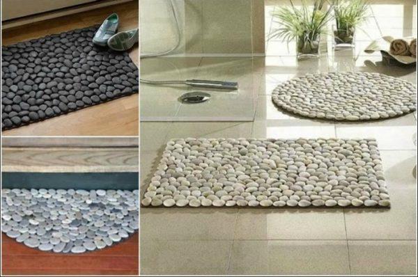 Каменный коврик на полу – отличная альтернатива укладки плитки