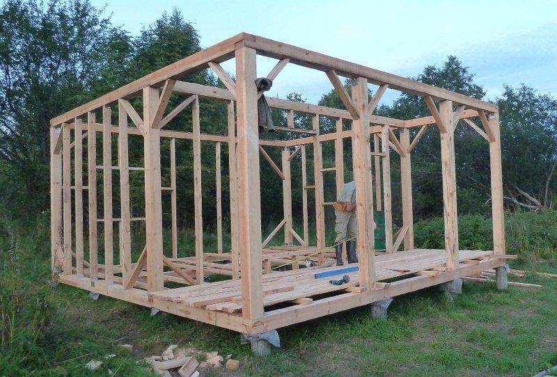 Как построить деревянный каркас своими руками 883