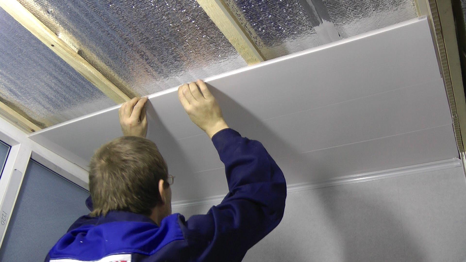 Панели мдф монтаж на потолок своими руками видео