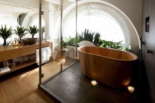 Кухня - совмещенная с ванной в современном дизайне