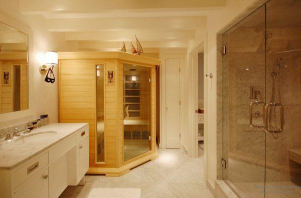 Маленькая сауна в домашней ванной (частный сектор)