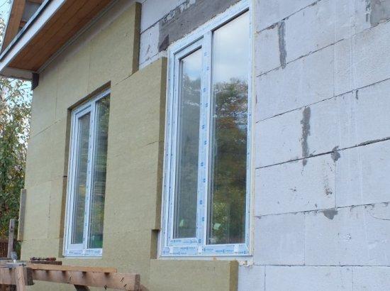 Минеральные маты хорошо утеплять стены из ячеистого бетона.