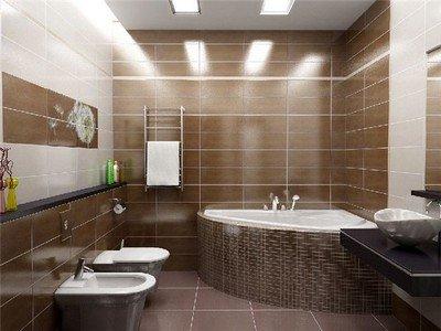 На фото – туалет, совмещенный с ванной.