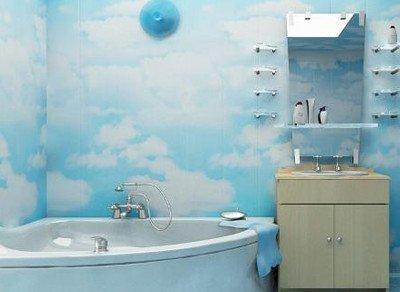 На фото: бюджетный вариант ремонта ванной комнаты может выглядеть очень стильно и оригинально