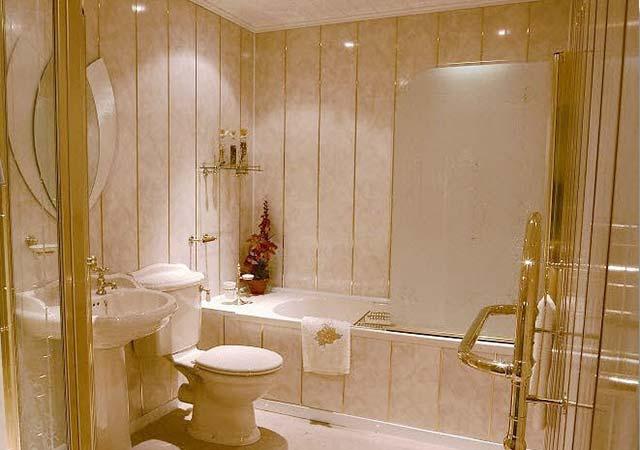 дизайн ванной комнаты в панелях фото