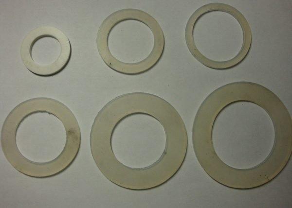 Набор силиконовых прокладок.