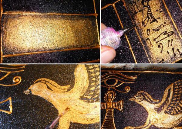 Нанесение иероглифов и рисунков