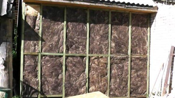 Наружное утепление пристройки минеральной ватой