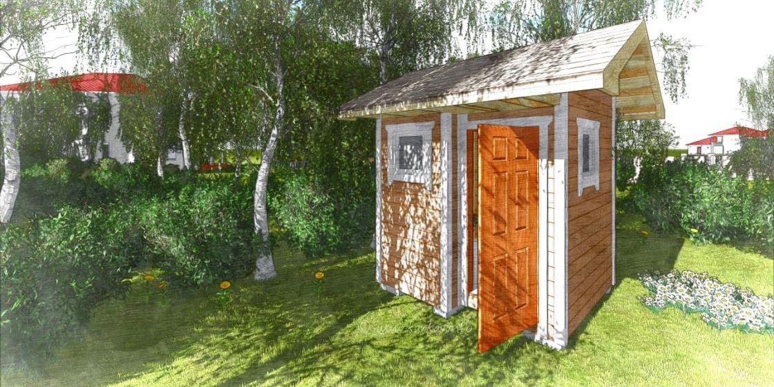 Туалет и хозблок под одной крышей своими руками