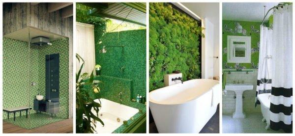 Новым трендом в дизайне стало обустройство вертикального озеленения, при правильном подборе растений такая стенка может занять достойное место в ванной